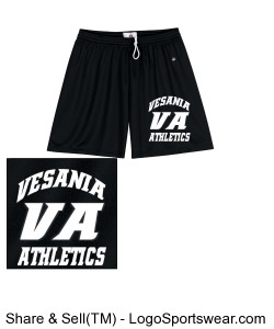 Vesania Athletics Women's Black Mesh Shorts Design Zoom