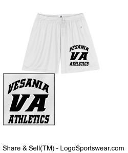 Vesania Athletics Women's White shorts Design Zoom