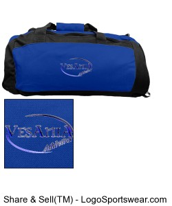 Vesania Athletics Royal Blue Gym Bag Design Zoom