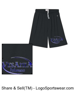 Vesania Performance Black Shorts Design Zoom